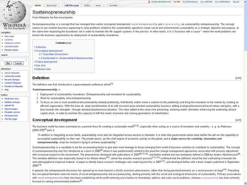 SustainopreneurshipiWikipediaScreenshot