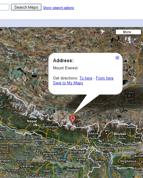 Mount-everest-google-map